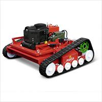 Remote controlled high grass rotary mulcher