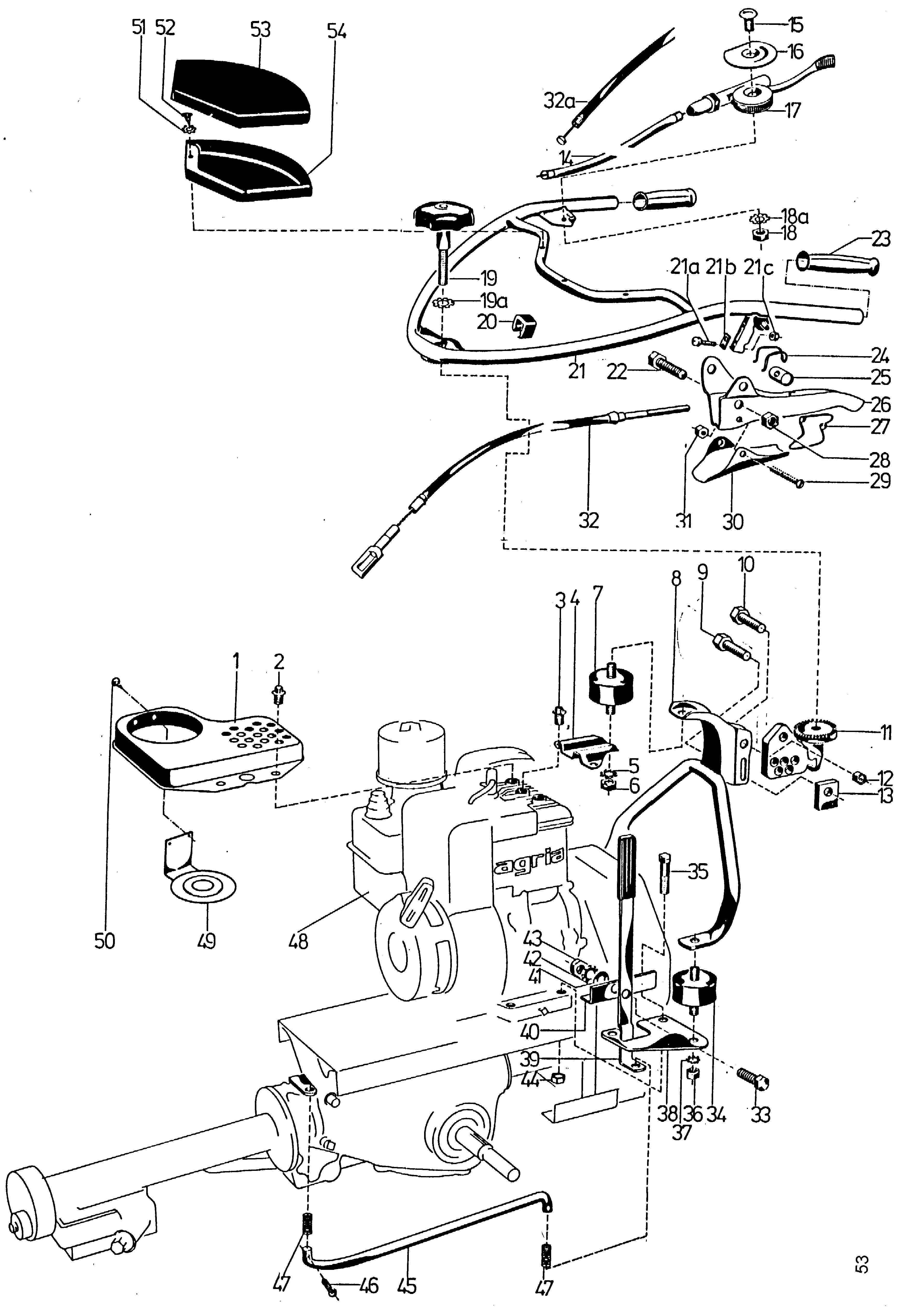 Lower steering arm, steering mechanism